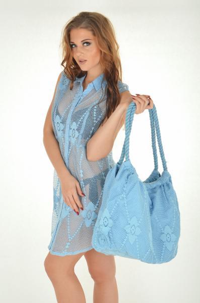 Голубая пляжная сумка Iconique IC7 060 One Size Голубой
