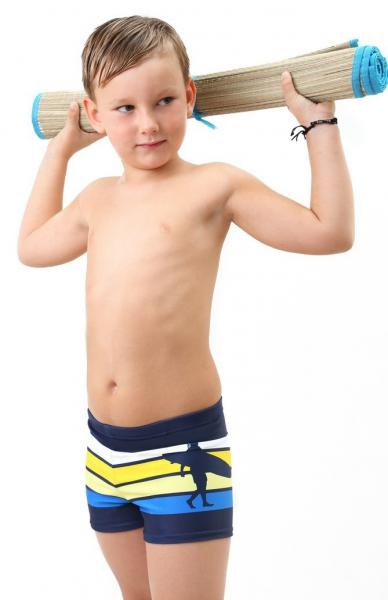 Плавки боксер в полоску для мальчиков Keyzi Surfer 116 Синий