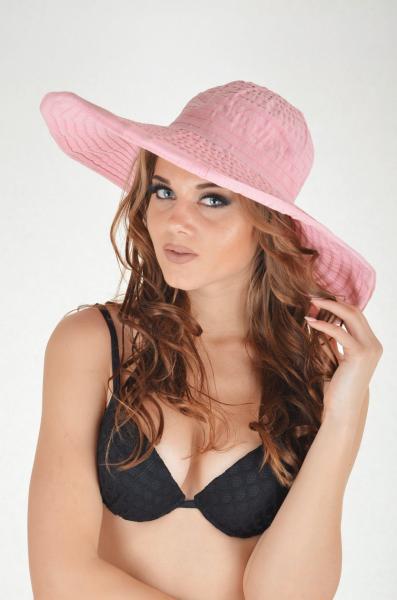 Розовая пляжная шляпа Grimaldimare G 1 Roz One Size Розовый