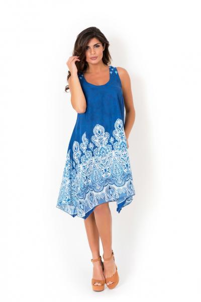 Женское пляжное платье с орнаментом David DB8-039 42(S) Синий