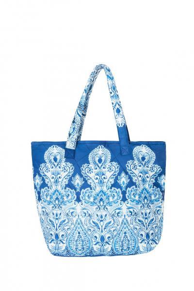 Мягкая пляжная сумка с орнаментом David DB8-041 One Size Синий