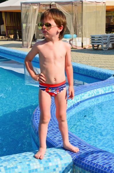 Полосатые плавки для мальчика Keyzi Sea R 98 Красный