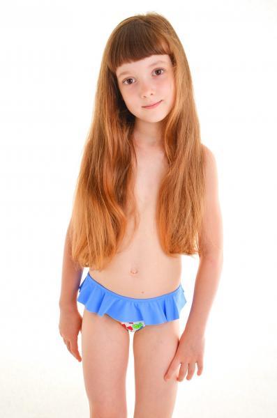 Голубые плавки для девочки Keyzi Teddy bear B 98 Голубой
