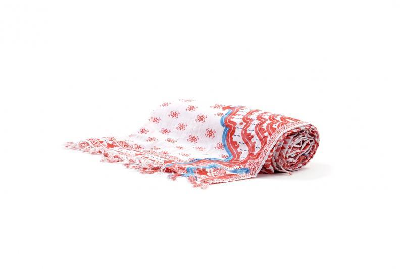 Пляжный коврик с принтом David DB9-038 One Size Красный-Белый