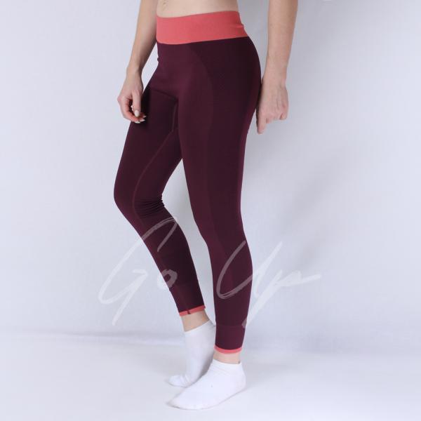 Женские спортивные лосины, MOVE, 4 цвета, тайтсы, леггинсы, одежда, для фитнеса, спорта, йоги, бега, танцев Бордовый