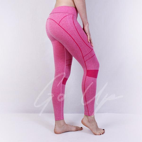 Женские спортивные лосины, Yumlan, 4 цвета, тайтсы, леггинсы, одежда, для фитнеса, спорта, йоги, бега, танцев Розовый