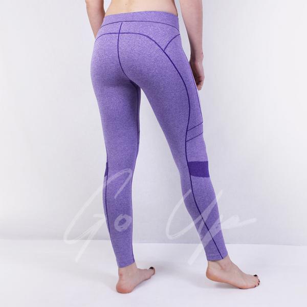 Женские спортивные лосины, Yumlan, 4 цвета, тайтсы, леггинсы, одежда, для фитнеса, спорта, йоги, бега, танцев Фиолет