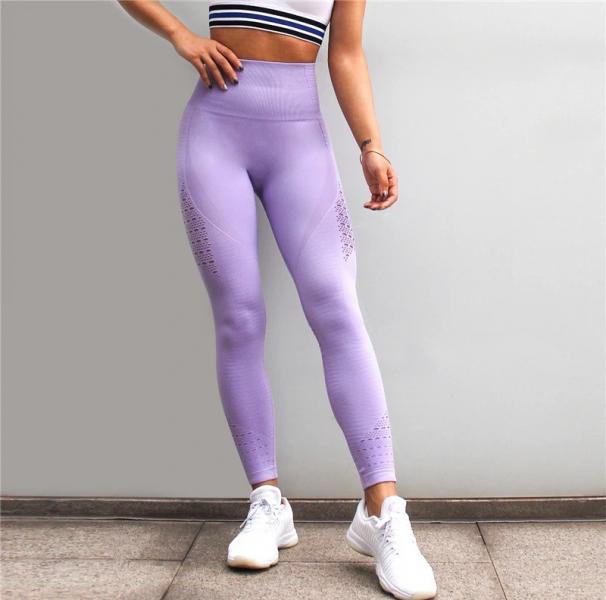 Женские спортивные лосины, 3 цвета, тайтсы, леггинсы, одежда, для фитнеса, спорта, йоги, бега, танцев Фиолет