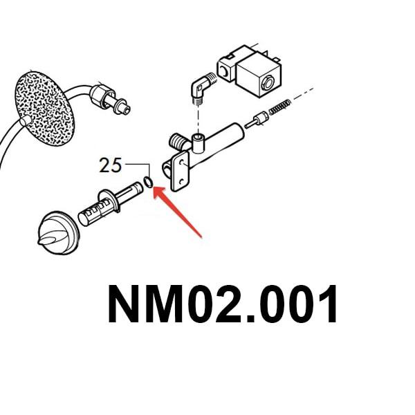 Кольцо уплотнительное кран вода/пар Magic - Vienna - Royal  NM02.001, 01.06.005 , (140321461)