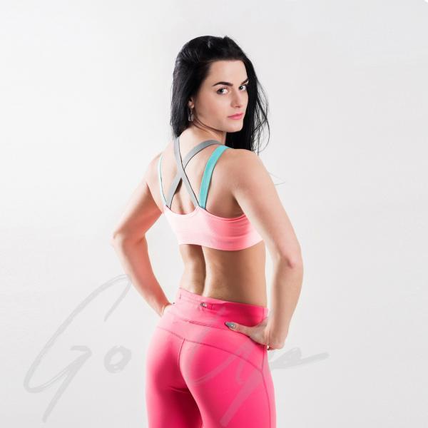 Спортивные женские топы для фитнеса, йоги, бега. 4 цвета. Топ, бра, топик, одежда, спортивный бюстгальтер Корал