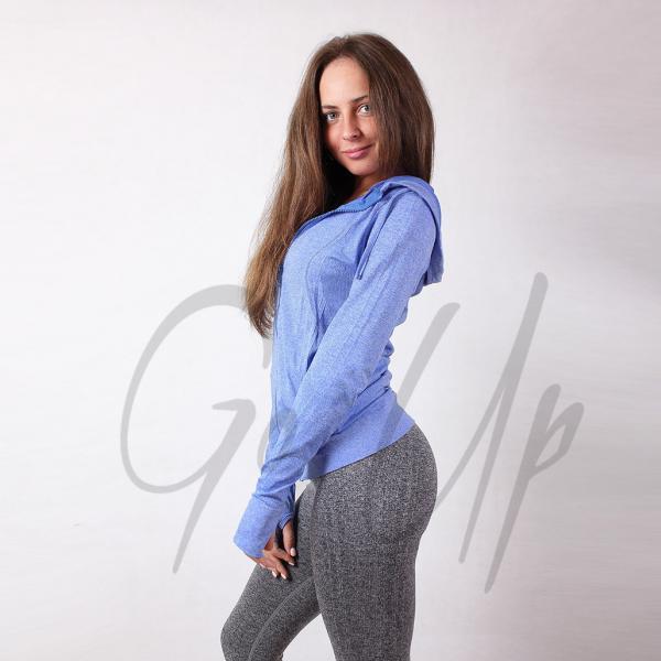 Женские спортивные кофты для спорта, 4 цвета, кофта для бега, одежда, кофточка, одежда, олимпийка для фитнеса Синий
