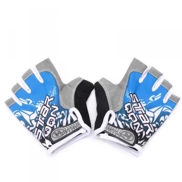 Спортивные женские перчатки, 3 цвета, для фитнеса, спортзала, бега, велосипедной прогулки с подушками  Синий