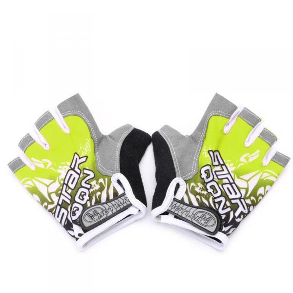 Спортивные женские перчатки, 3 цвета, для фитнеса, спортзала, бега, велосипедной прогулки с подушками  Желтый