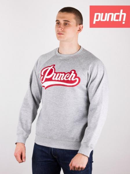 Свитшот Punch - Pitcher, grey. Серый. Зима. Winter. S
