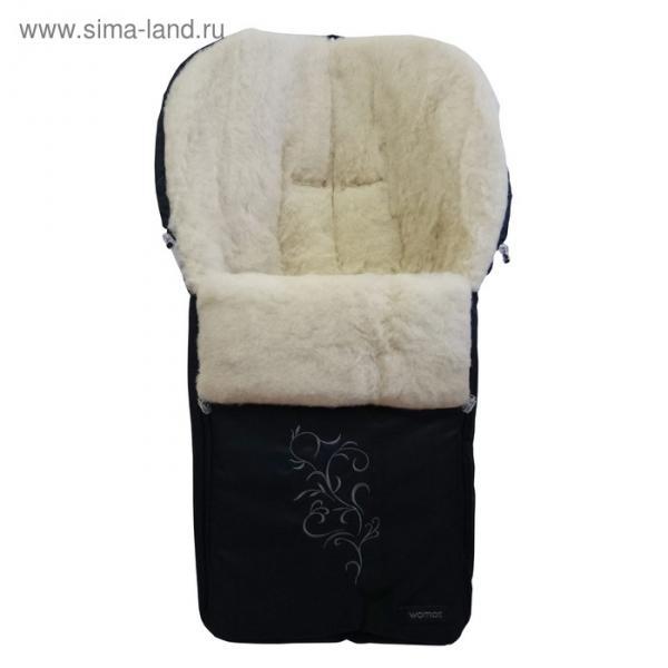 Спальный мешок в коляску Siberia, 12 чёрный