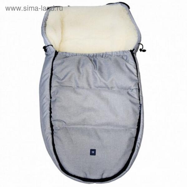 Спальный мешок в коляску Exclusive, цвет светло-серый