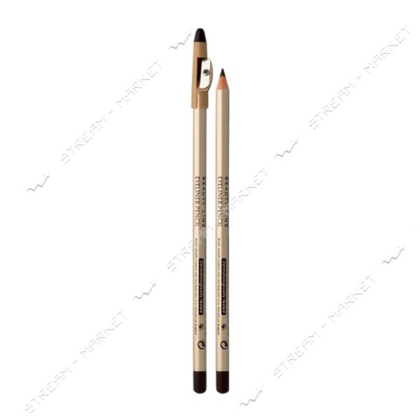 Контурный карандаш для глаз Eveline Cosmetics Eyeliner Pencil с точилкой Черный