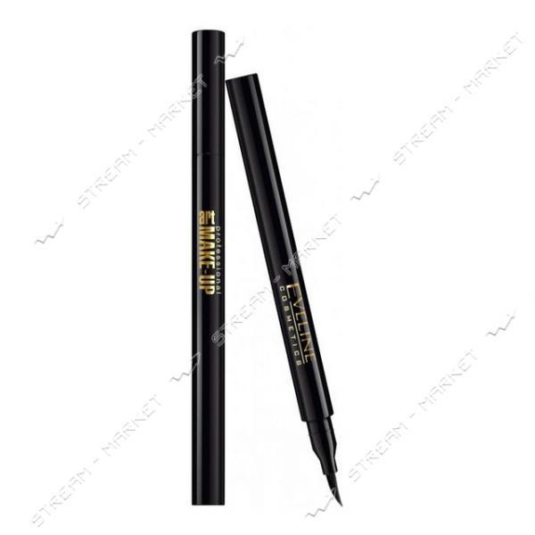 Подводка-маркер для глаз Eveline Cosmetics Make-Up водостойкая Черная