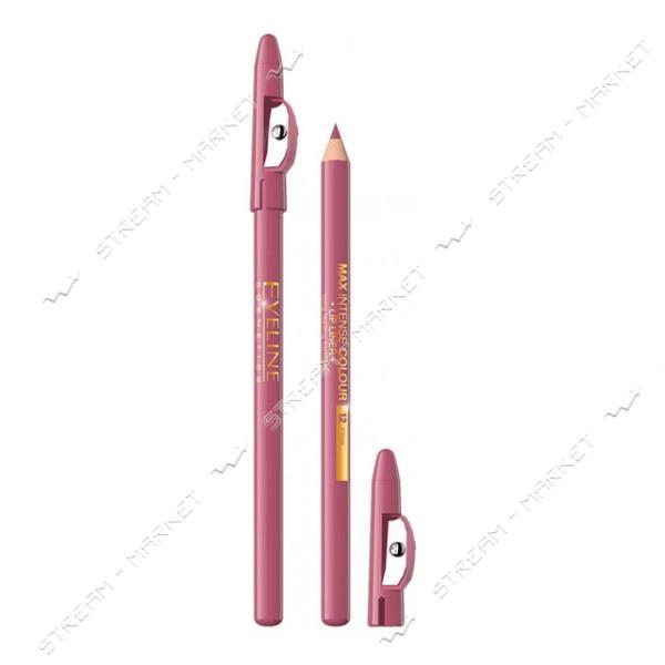Карандаш для губ Eveline Cosmetics контурный с точилкой №12 Pink