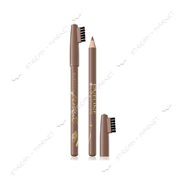 Контурный карандаш для бровей Eveline Eyebrow Pencil светло-коричневый