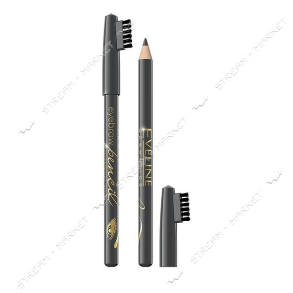 Контурный карандаш для бровей Eveline Eyebrow Pencil серый