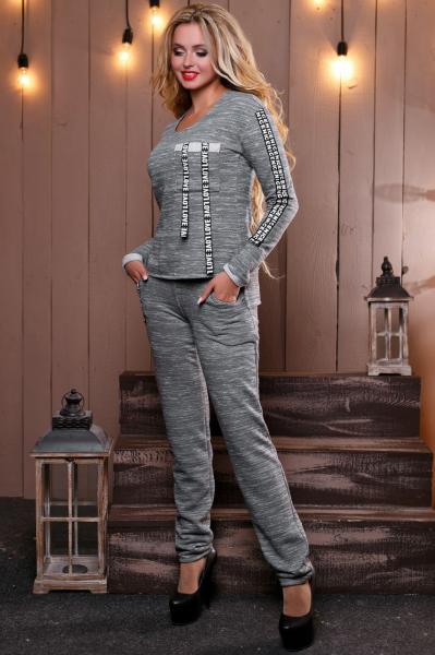 Теплый женский спортивный костюм  M, L, XL, XXL