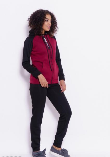 Фото  Спортивные костюмы ISSA PLUS 10290  S черный/бордовый