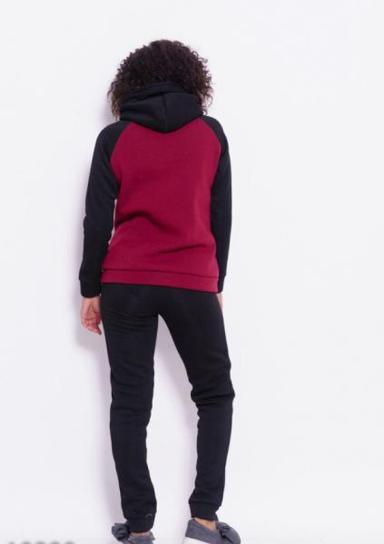 Фото  Спортивные костюмы ISSA PLUS 10290  M черный/бордовый