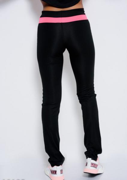 Фото  Спортивные штаны ISSA PLUS 10185  L черный/розовый