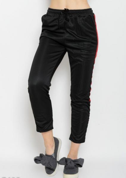 Спортивные штаны ISSA PLUS 7408  S черный/красный