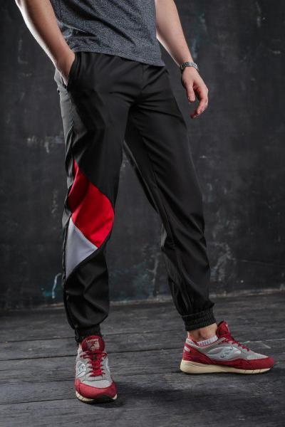 Мужские спортивные штаны черные бренд ТУР модель Joker