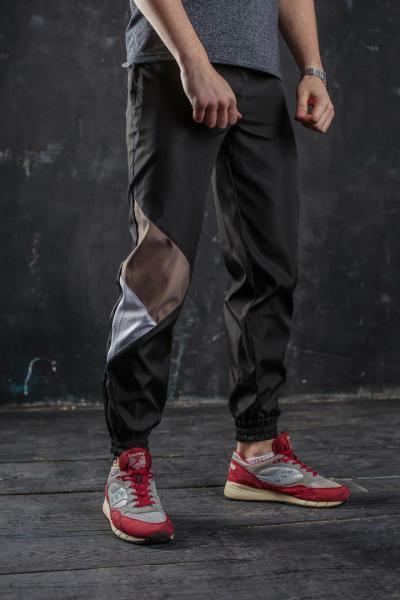 Штаны спортивные мужские черные бренд ТУР модель Joker