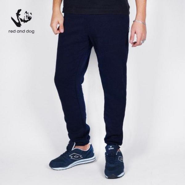 Спортивные мужские штаны с начесом темно-синие бренд Red and Dog