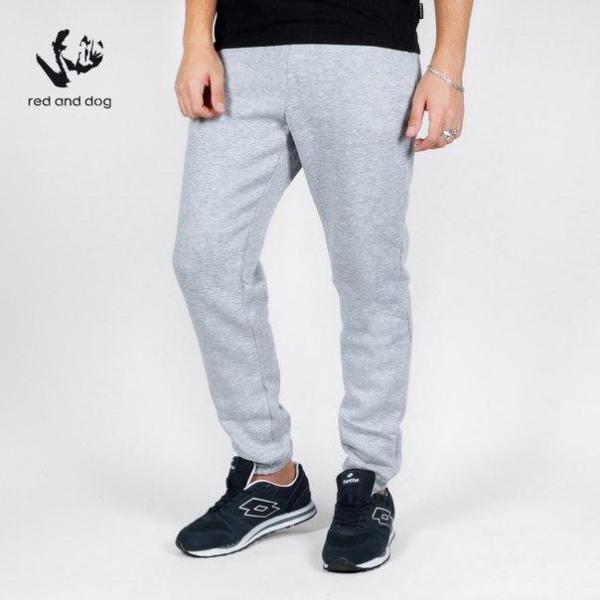 Спортивные мужские штаны с начесом цвет серый бренд Red and Dog