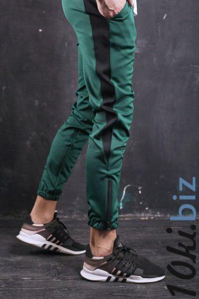 Мужские спортивные штаны зеленые с полосой бренд ТУР модель Рокки, цена фото купить в Киеве. Раздел Спортивные брюки мужские