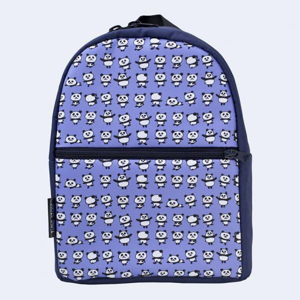 Детский синий рюкзак с пандами