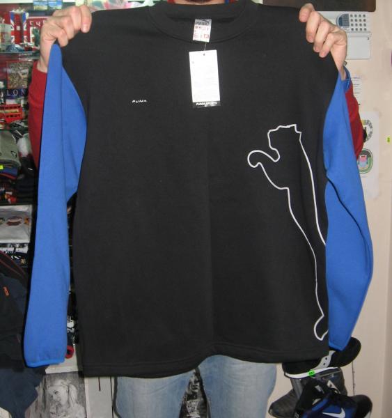 Кофта Puma черно-синяя
