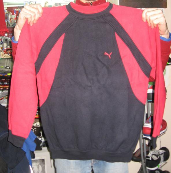 Кофта Puma черно-красная