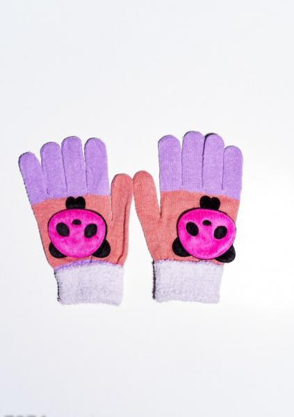Детские перчатки и варежки ISSA PLUS 7874  Universal персиковый/сиреневый