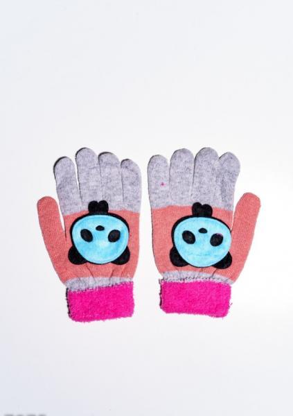 Детские перчатки и варежки ISSA PLUS 7874  Universal серый/малиновый