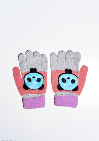 Детские перчатки и варежки ISSA PLUS 7874  Universal сиреневый/персиковый