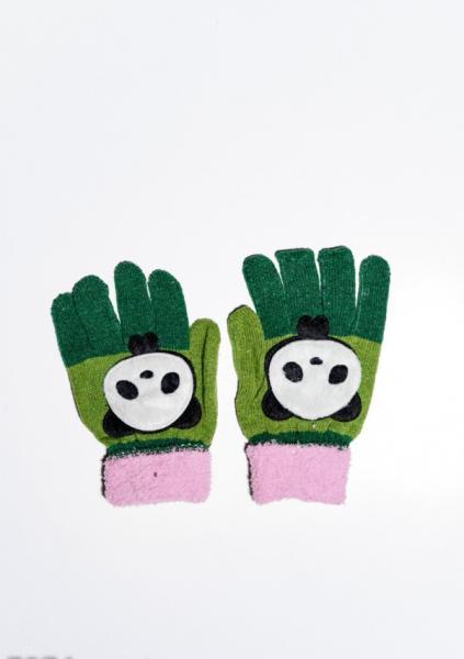 Детские перчатки и варежки ISSA PLUS 7874  Universal зеленый/розовый