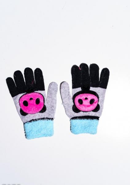 Детские перчатки и варежки ISSA PLUS 7874  Universal серый/черный