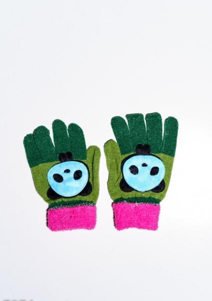 Детские перчатки и варежки ISSA PLUS 7874  Universal зеленый/малиновый