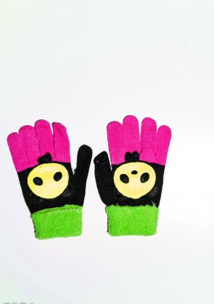 Детские перчатки и варежки ISSA PLUS 7874  Universal черный/зеленый