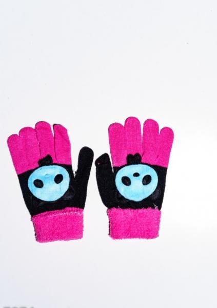 Детские перчатки и варежки ISSA PLUS 7874  Universal черный/малиновый