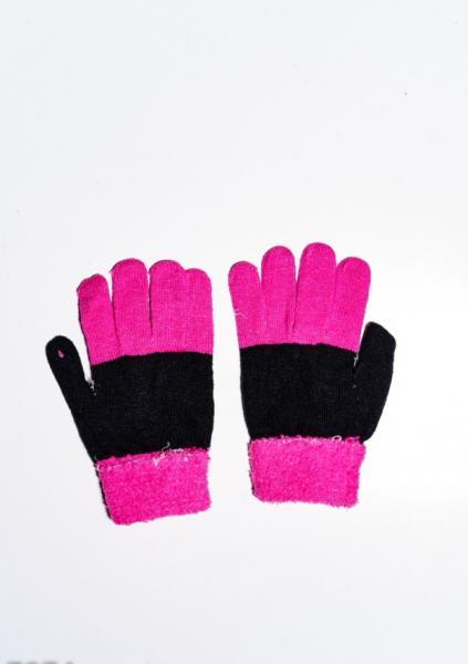 Фото  Детские перчатки и варежки ISSA PLUS 7874  Universal черный/малиновый
