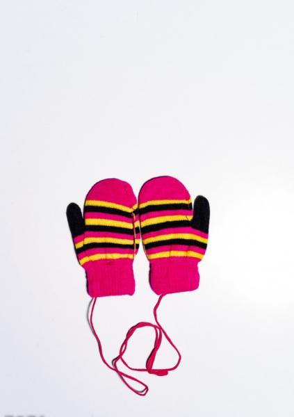 Фото  Детские перчатки и варежки ISSA PLUS 7871  12 месяцев малиновый