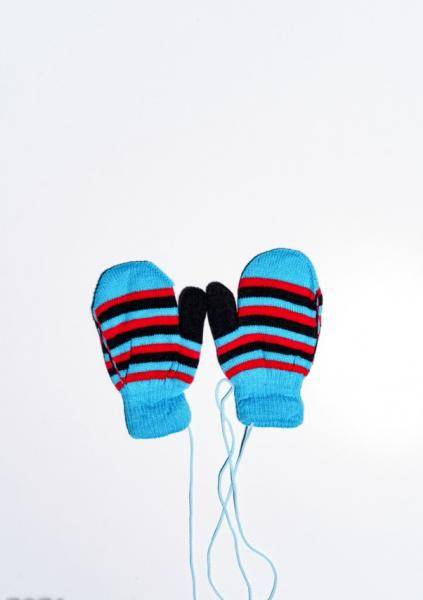 Детские перчатки и варежки ISSA PLUS 7871  12 месяцев бирюзовый