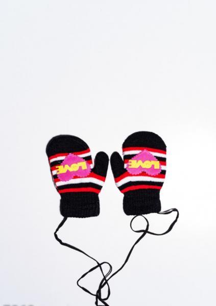 Детские перчатки и варежки ISSA PLUS 7869  12 месяцев черный